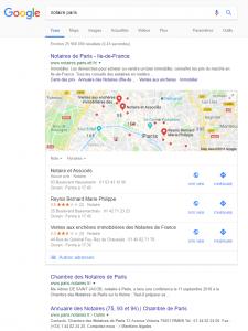 apparaître sur la carte google